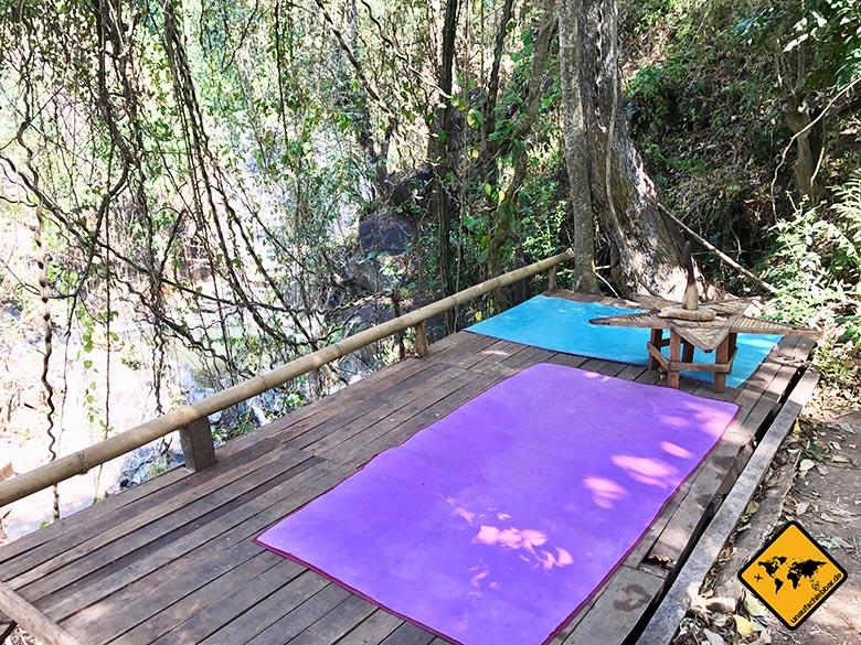 Entspannung Tiu Pituq Lombok Wasserfall Park