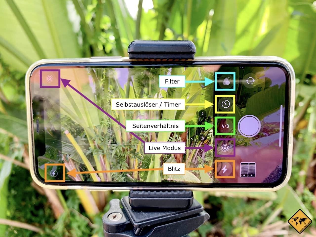 Erweiterte iPhone Kamera Einstellungen