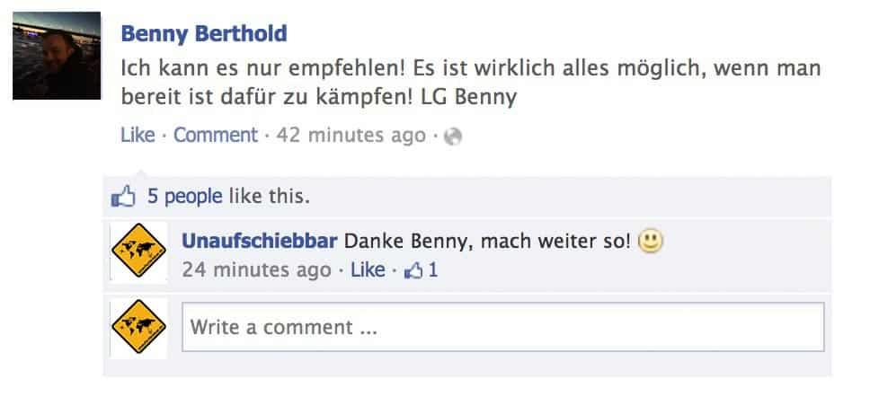 Facebook Testimonial Benny