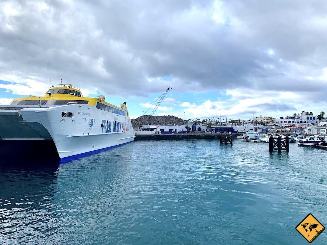 Fähre Fred Olsen Fuerteventura Lanzarote