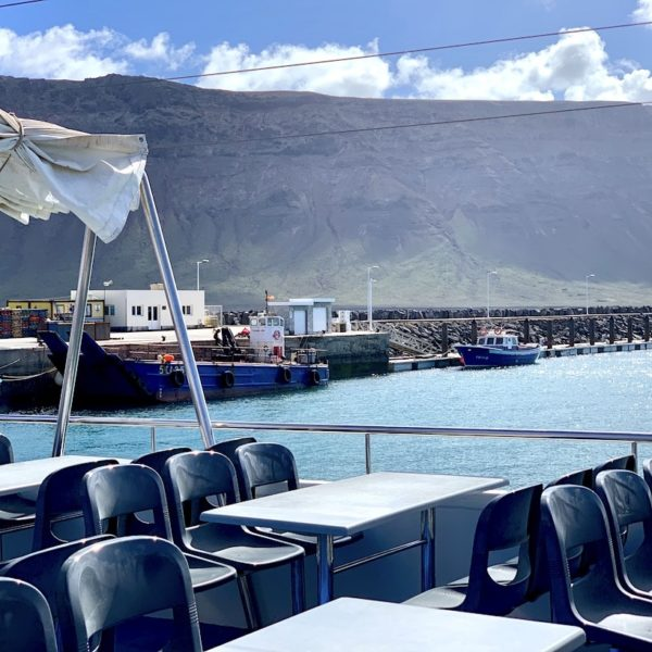 Fähre Lanzarote La Graciosa oberes Deck