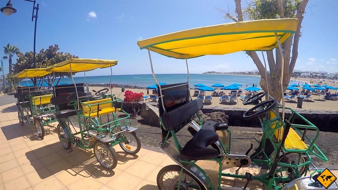 Fahrrad Rikscha Puerto del Carmen Lanzarote