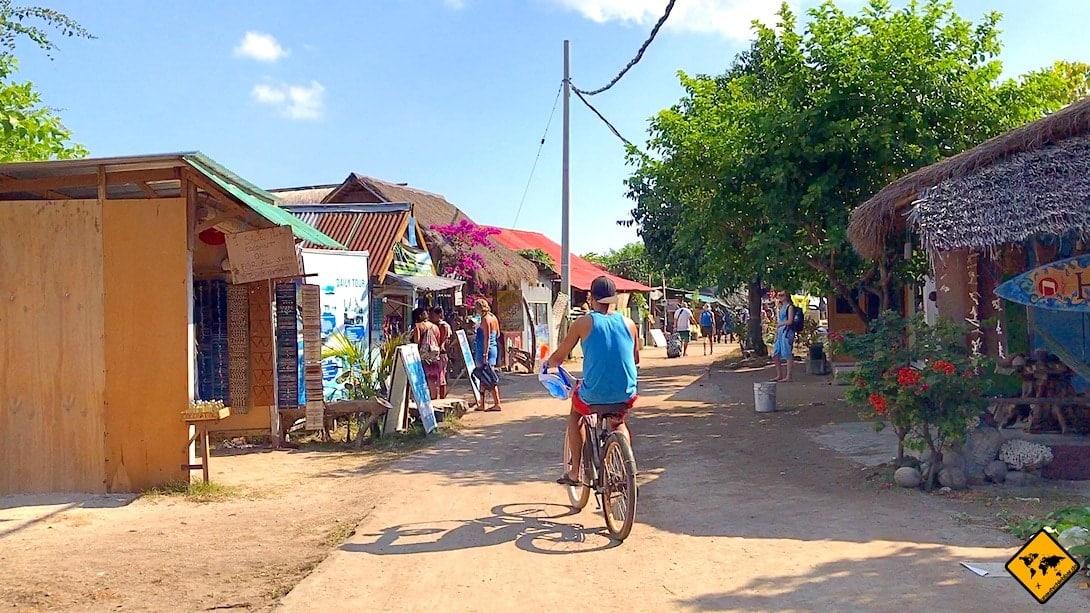 Fahrrad fahren Gili Inseln