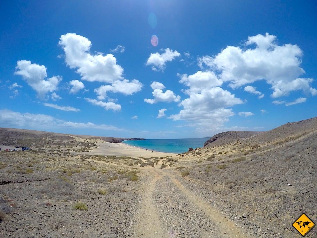 Fahrradweg Papagayo Strände Lanzarote