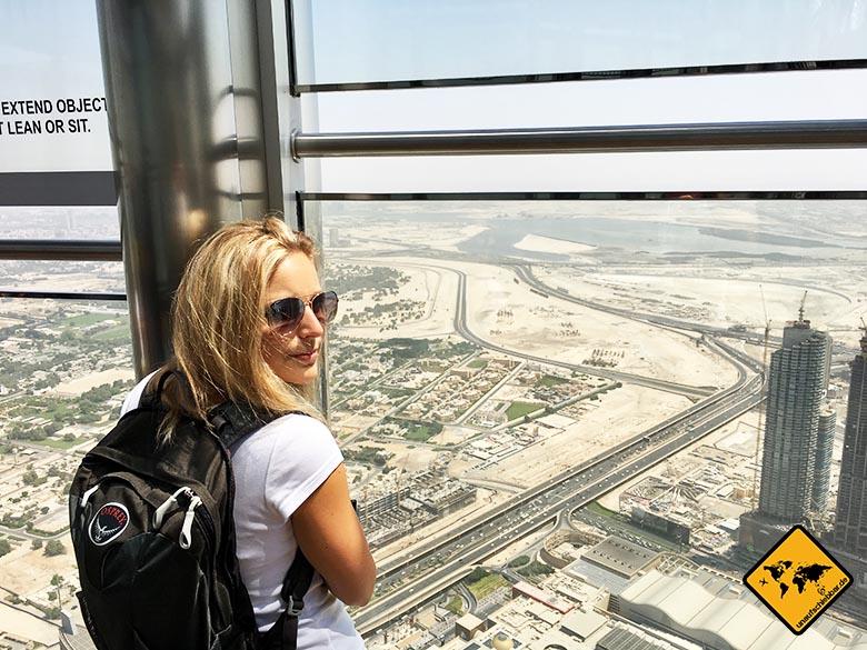 Faszinierende Aussicht von der Burj Khalifa Aussichtsplattform