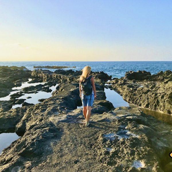 Felsen Lava-Küste Piscina natural de Jover