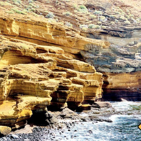 Felsen Playa Amarilla Teneriffa Geheimtipps
