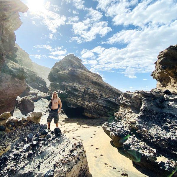 Felsen Playa de la Solapa Fuerteventura