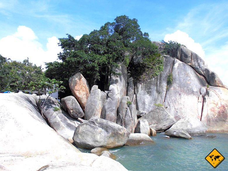 Felsformationen Lamai Beach Koh Samui