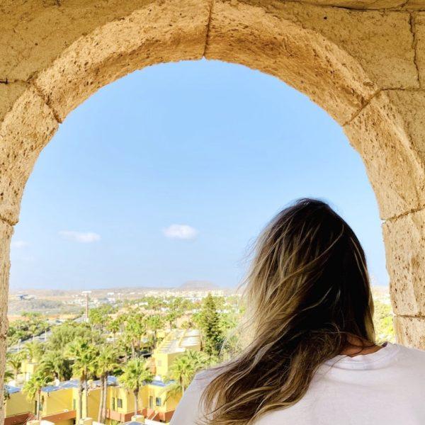 Fenster Ausblick Glockenturm Corralejo