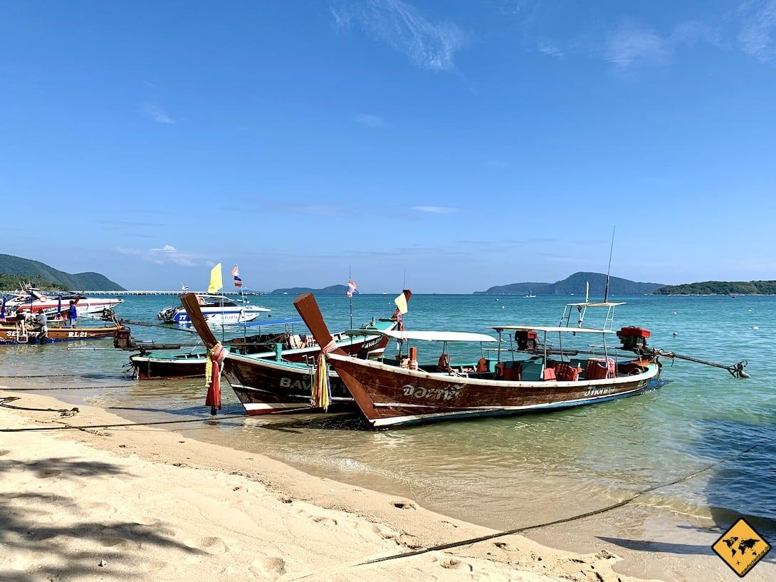 Fischerboote Phuket Rawai Beach