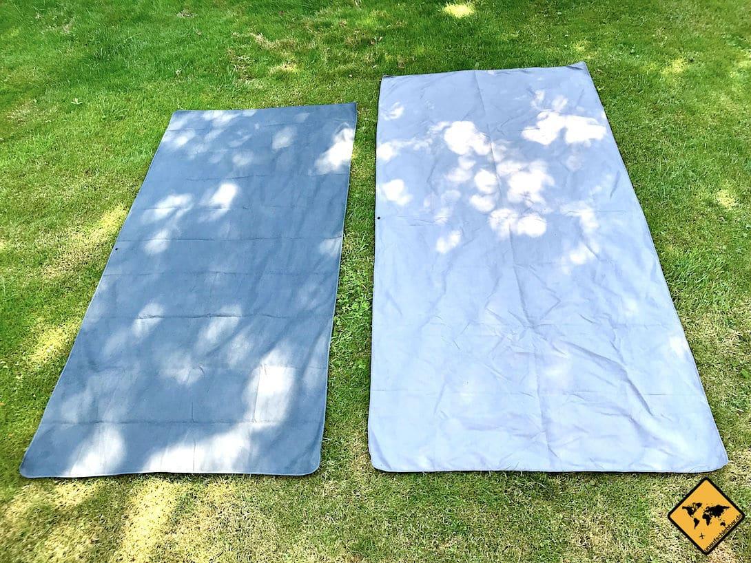 Die schnell trocknenden Mikrofaser Handtücher von Fit Flip sind in verschiedenen Größen und Farben erhältlich