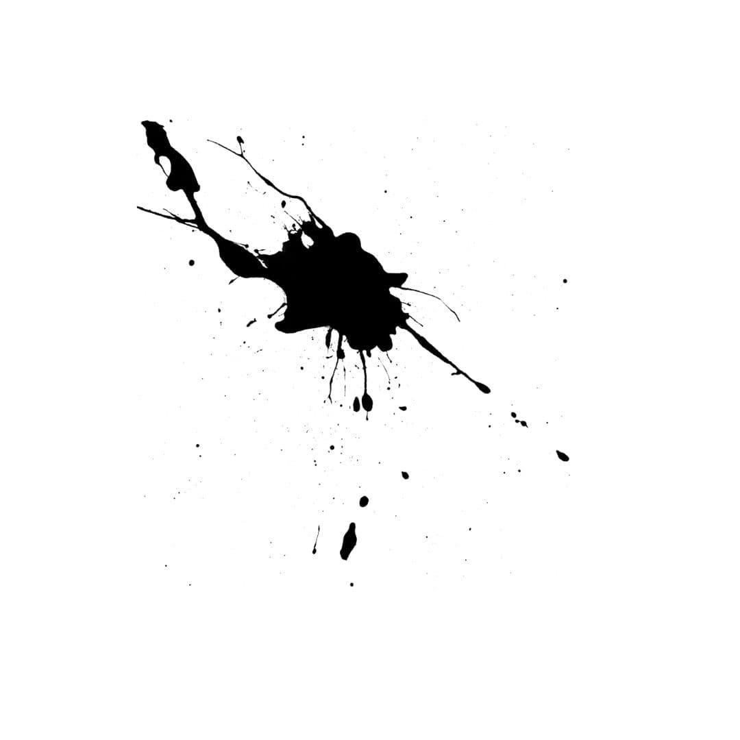 Fleck schwarz Farbe