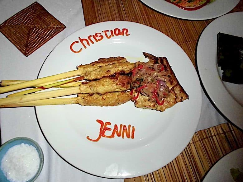 Flitterwochen auf Bali Dinner