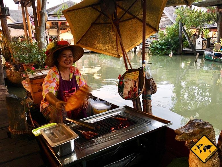 Floating Market Pattaya Krokodil-Fleisch