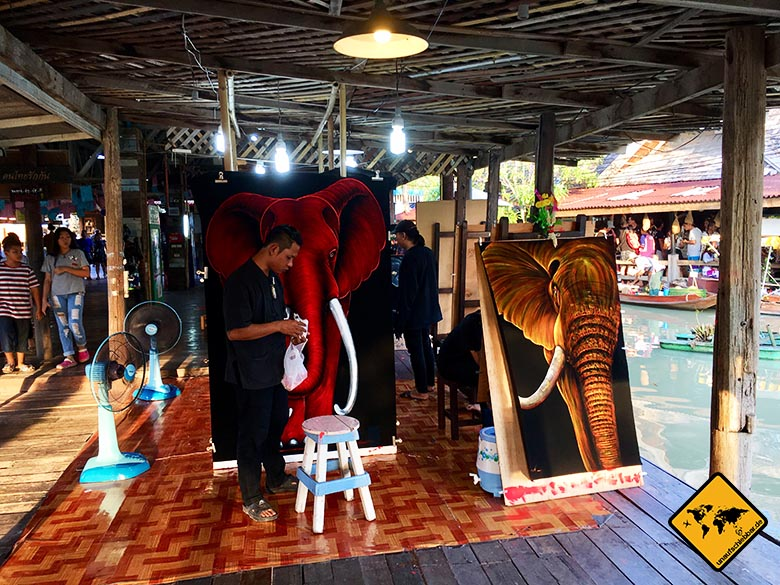 Floating Market Pattaya Kunst