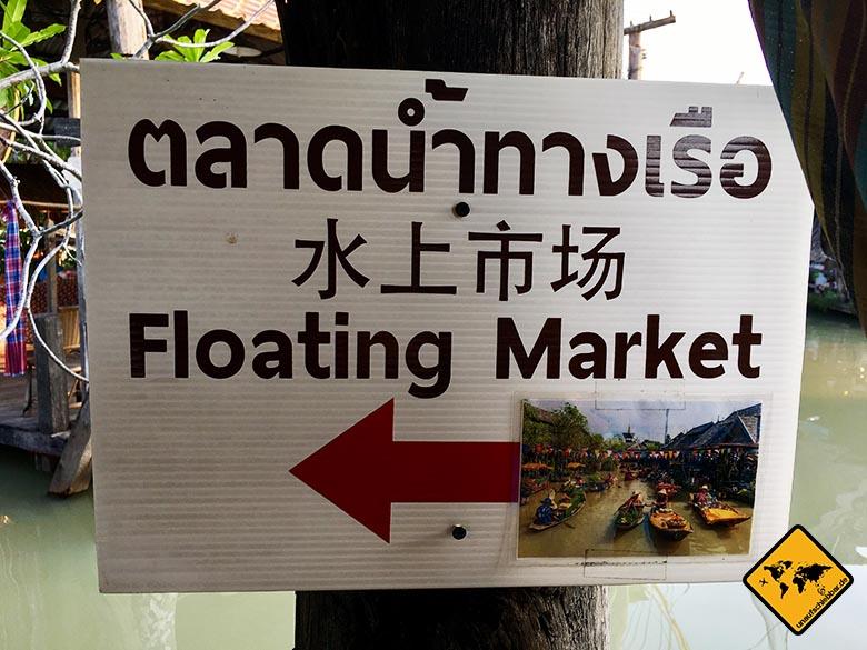 Floating Market Pattaya Wegweiser