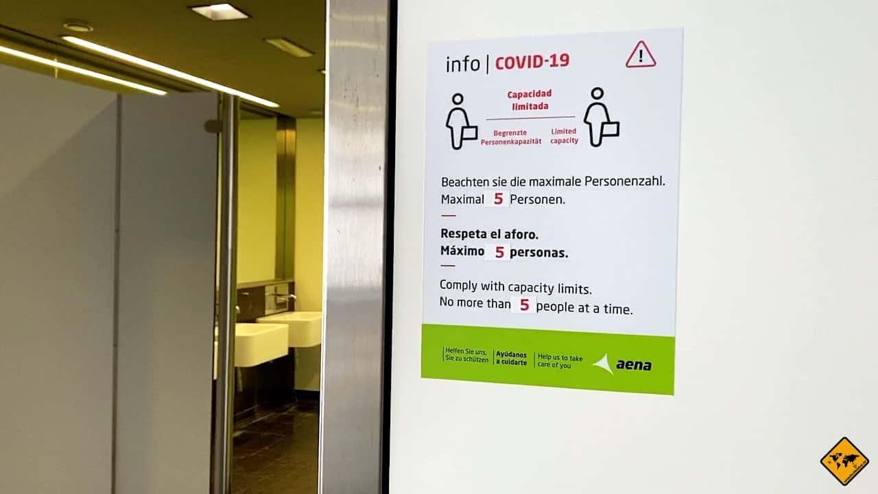 Flughafen Gran Canaria Corona Personenbegrenzung