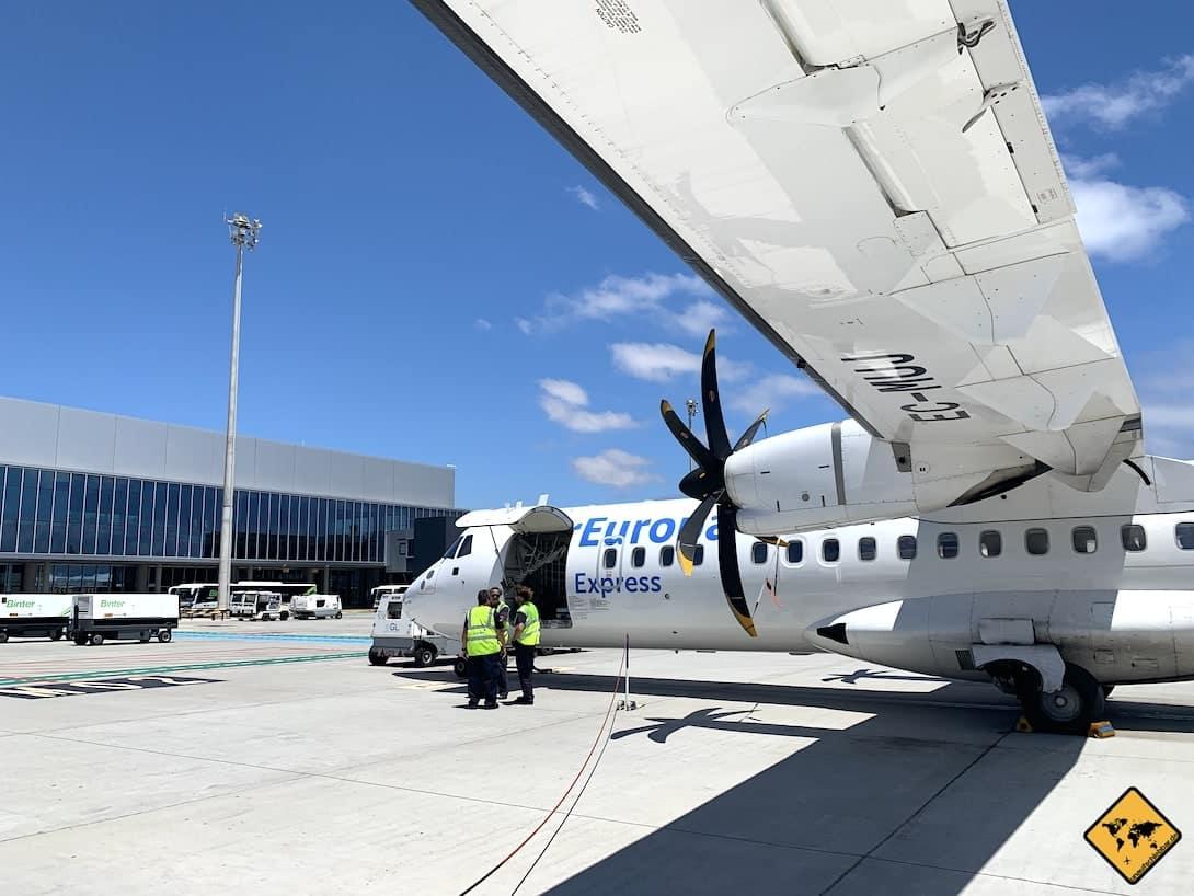 Flughafen Gran Canaria Flugzeug Propeller