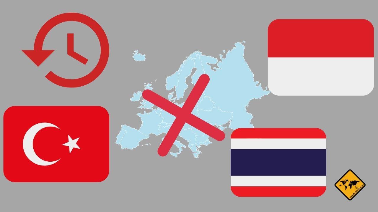 Flugverspätung Ansprüche Außerhalb EU Türkei Indonesien Thailand
