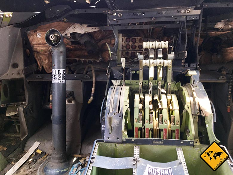 Flugzeugfriedhof Bangkok Cockpit