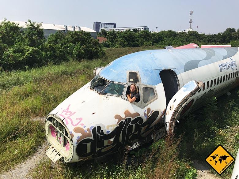Flugzeugfriedhof Bangkok Pilot