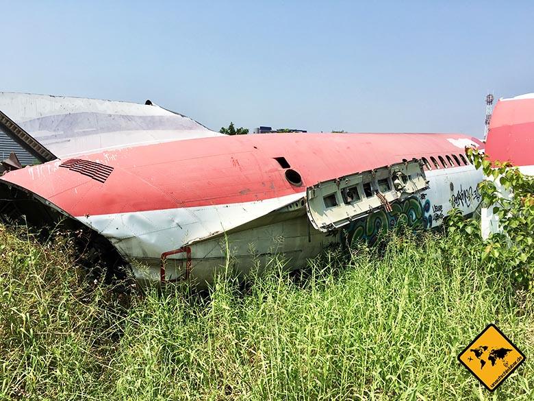 Flugzeugfriedhof Bangkok Wrack