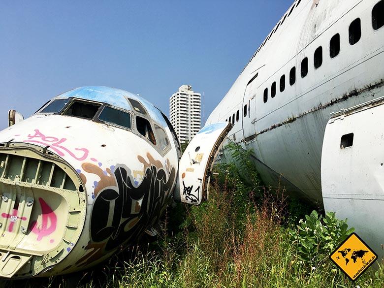 Flugzeugfriedhof Bangkok