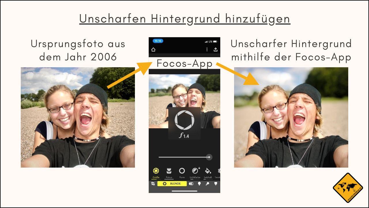 Focos App unscharfer Hintergrund