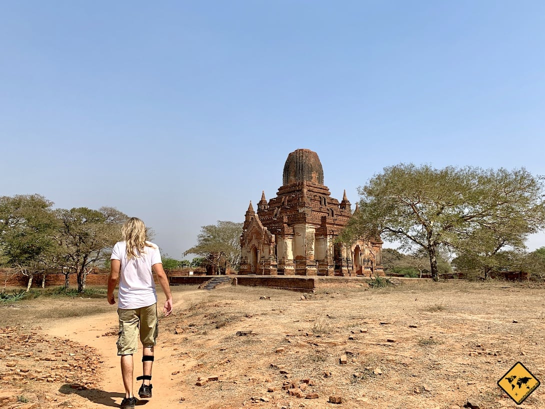 Fortbewegung Bagan Myanmar zu Fuß