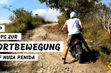 Fortbewegung auf Nusa Penida – Roller, Autos, Taxis und Guides