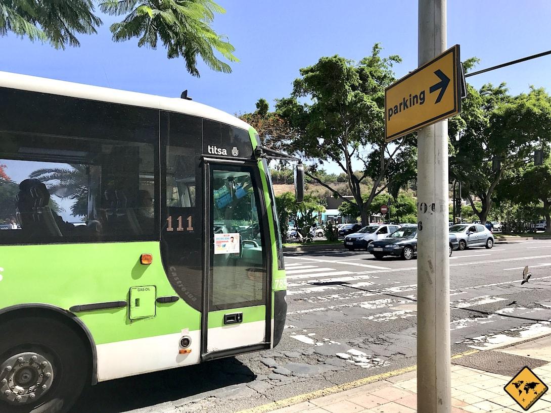 Fortbewegung auf Teneriffa Bus