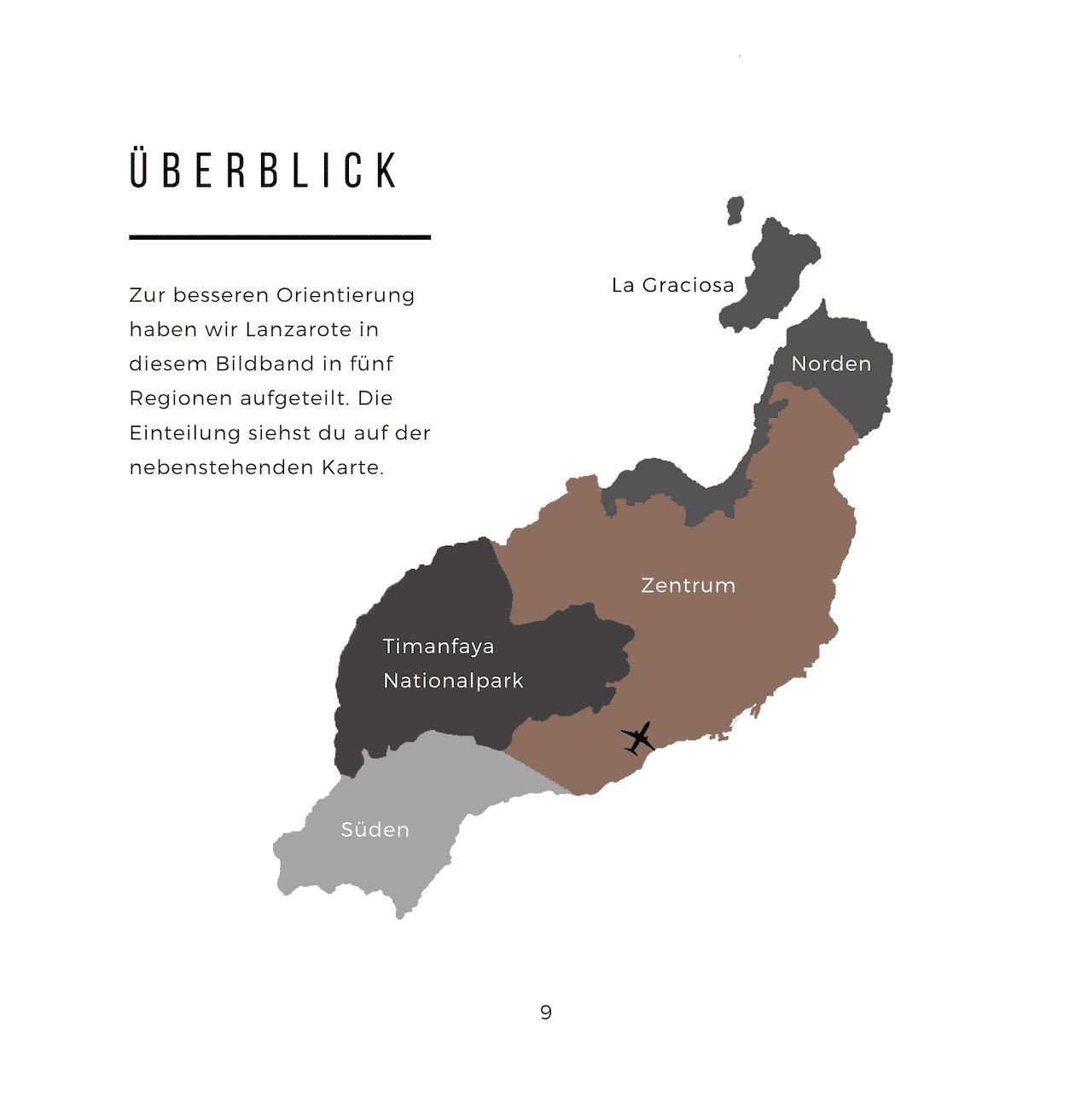 Fotoband Lanzarote Karte