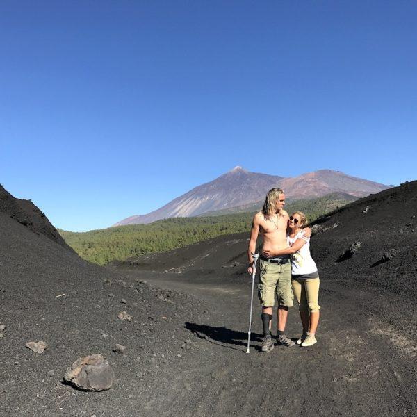 Fotopro Stativ Beispiel-Bild Teneriffa Lava-Landschaft