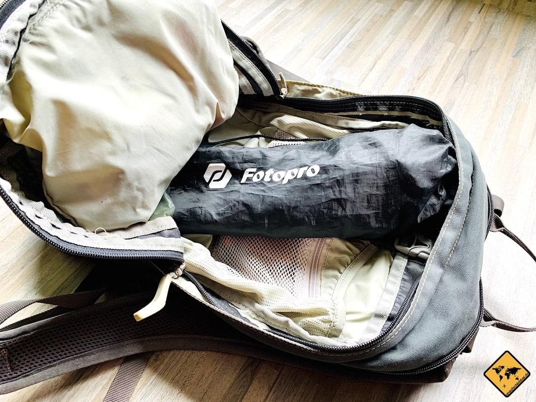 Fotopro Stativ Empfehlung Rucksack Größe