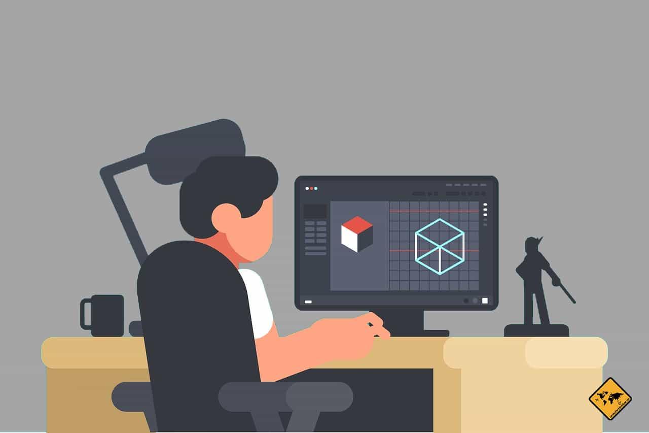 Freelancer digitaler Nomade