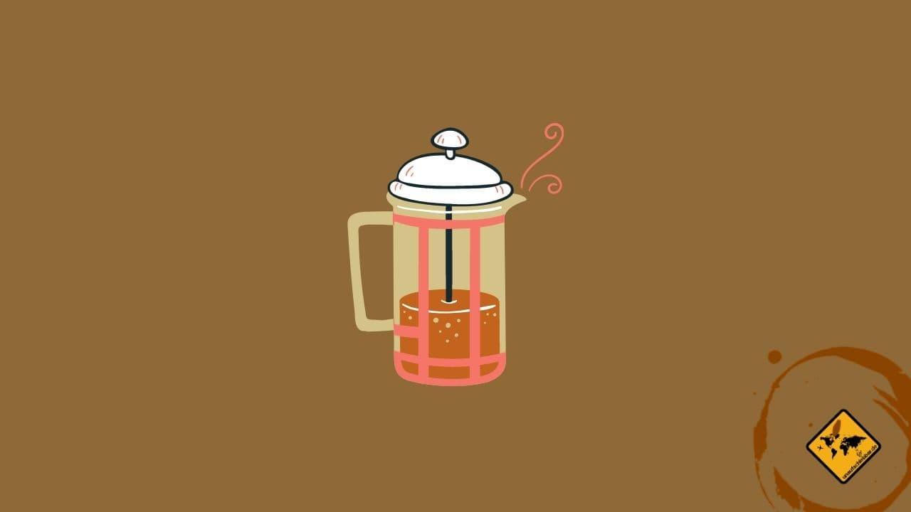 French Press Kaffee auf Reisen zubereiten