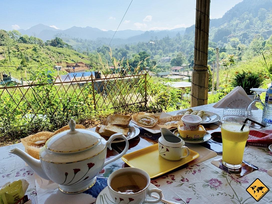 Frühstück Wins Heaven Homestay Ella Sri Lanka