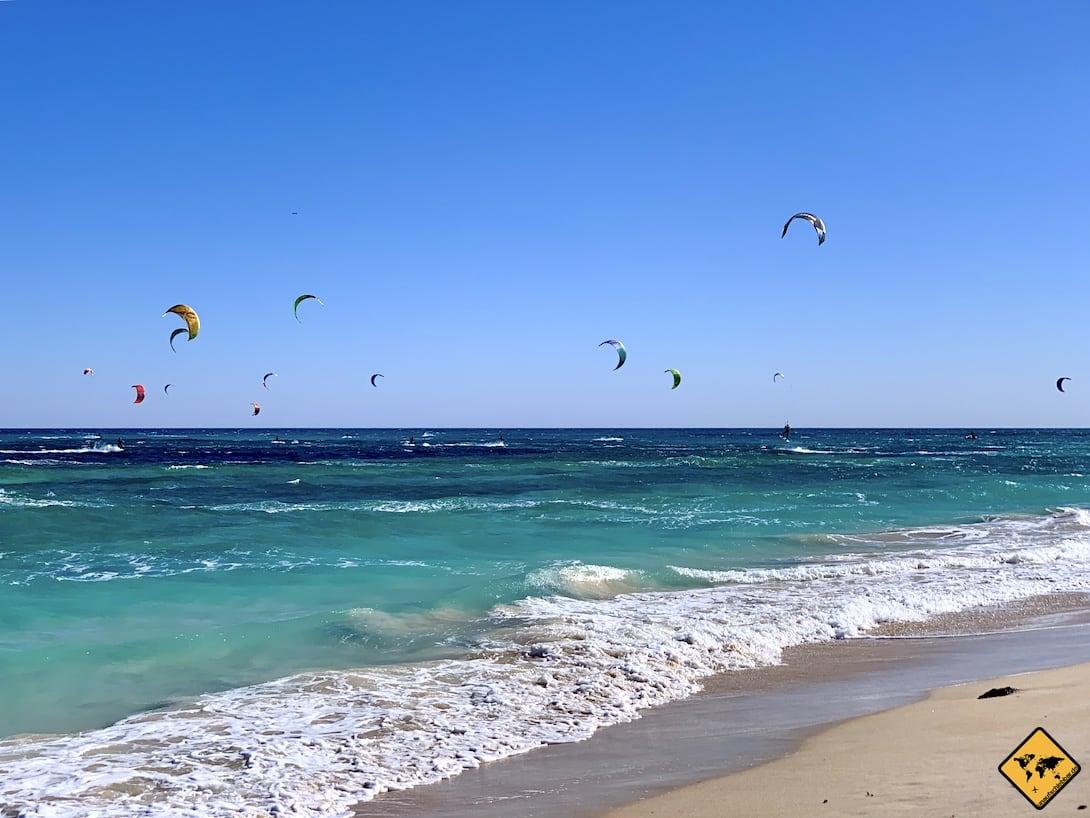 Fuerteventura Corralejo Kitesurfer Strand