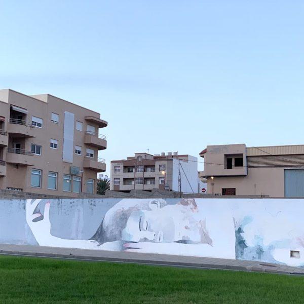 Fuerteventura Puerto del Rosario Streetart Mauer