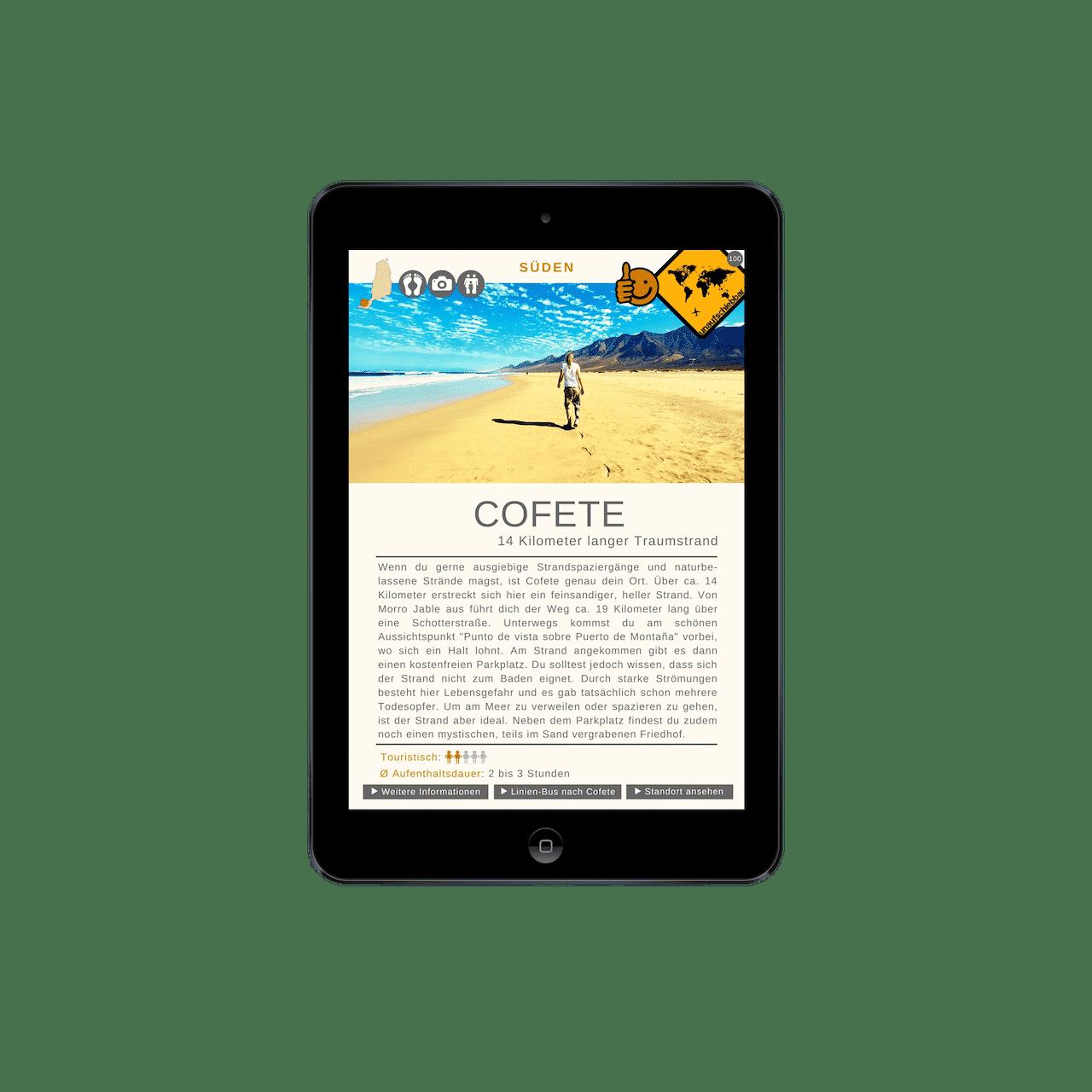 Fuerteventura Reiseführer Cofete iPad