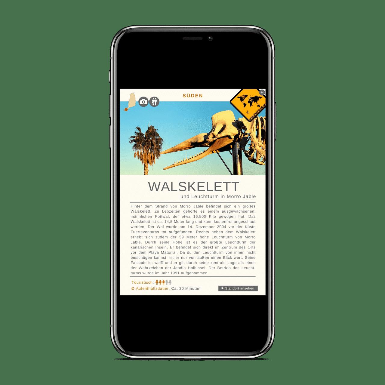 Fuerteventura Reiseführer Walskelett iPhone