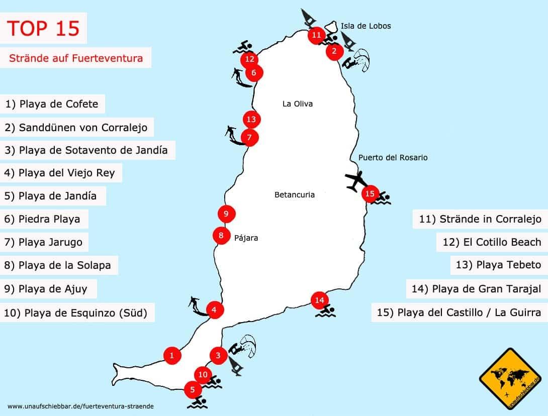 Fuerteventura Strandkarte