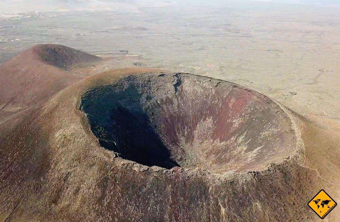 Fuerteventura Vulkan Drohnenaufnahme