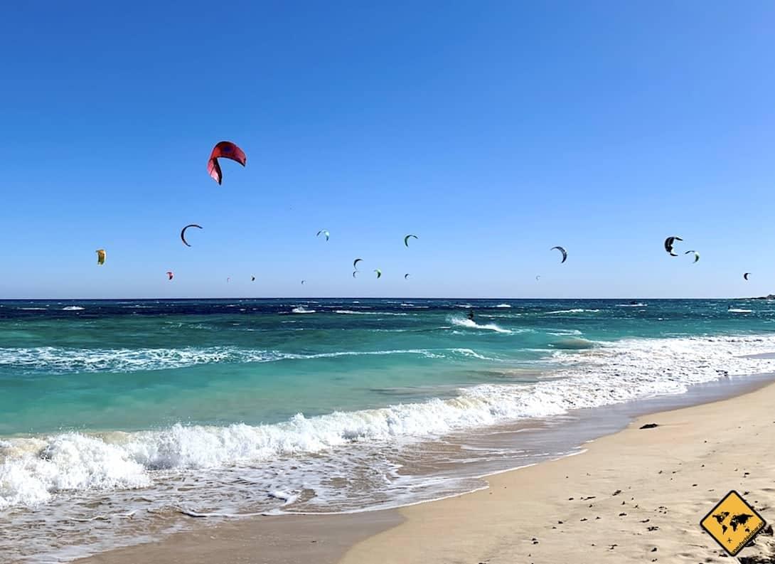Fuerteventura kitesurfen Strand Corralejo