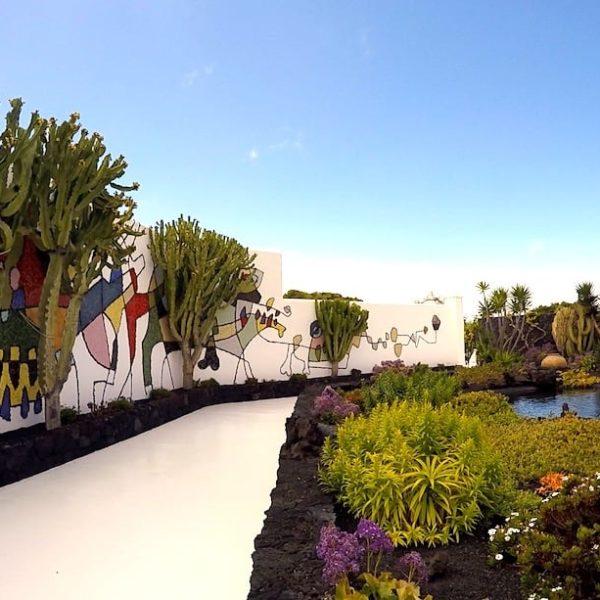 Garten Mauer Stiftung César Manrique Lanzarote