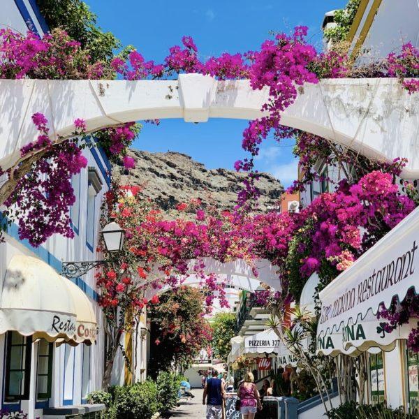 Gasse Blumen Gran Canaria Puerto de Mogán