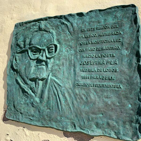 Gedenktafel Josefina Pla Isla de Lobos