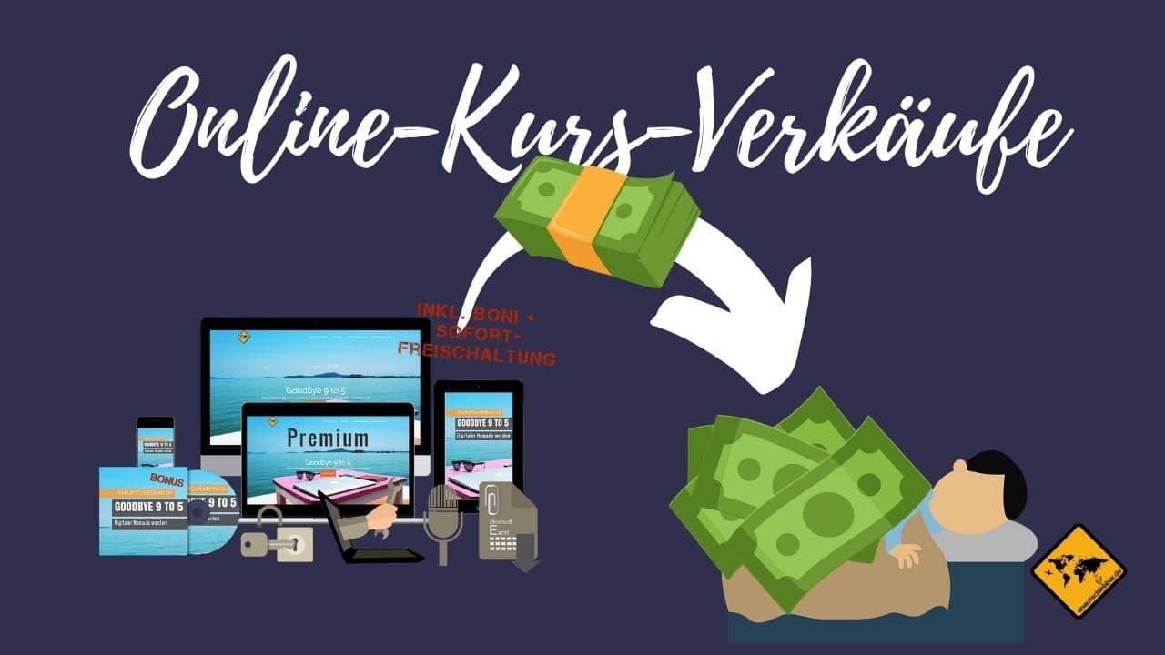 Geld verdienen im Schlaf Onlinekurs Verkäufe