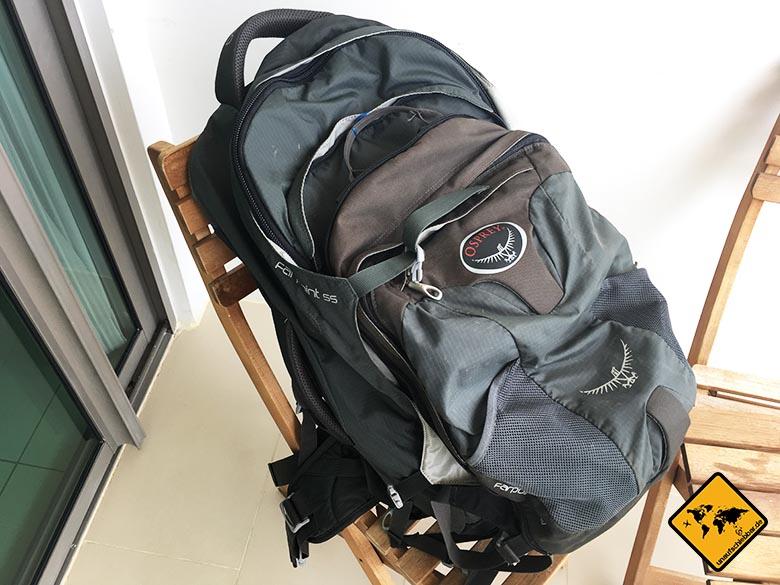 Geschenke für Reisende Reisegeschenke - Osprey farpoint 55